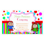 babysitter,babysitting, nursery school .... Double-Sided standard business cards (Pack of 100)