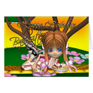 Babysitter Birthday card with cutie pie by Moonlak