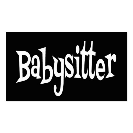 Babysitter Black And White Business Card