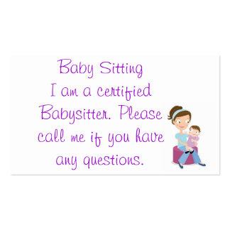 babysitter business card