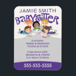 "Babysitter Business Card Magnet<br><div class=""desc"">Professional and cute babysitter business card magnet by WRKDesigns. Allows parents to put your business card up on their fridge for quick reference.</div>"