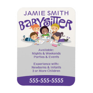 Babysitter Business Card Magnet