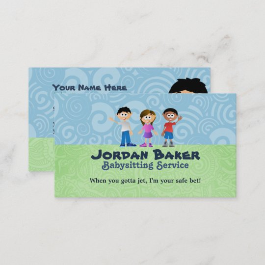 Babysitter business cards zazzle babysitter business cards colourmoves