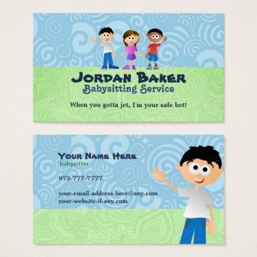 Babysitter Business Cards