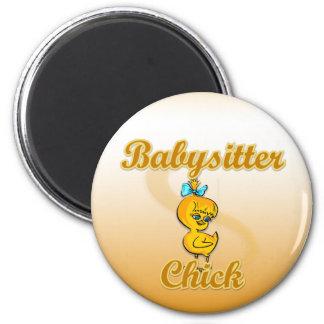 Babysitter Chick 2 Inch Round Magnet