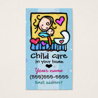 Babysitter Child Care Custom card Lt Blue