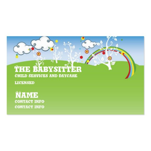 Daycare business card templates page3 bizcardstudio babysitter childcare business card colourmoves Gallery