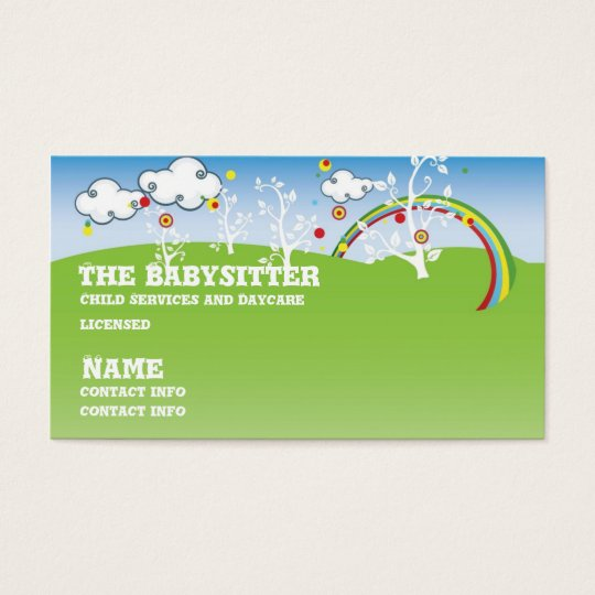 babysitter childcare Business card