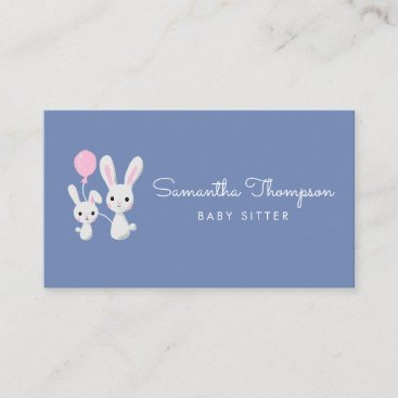 Babysitter, Childcare, Day Care, Nanny Cute Bunny Business Card