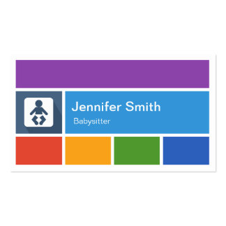 Babysitter - Creative Modern Metro Style Double-Sided Standard Business Cards (Pack Of 100)
