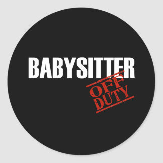 Babysitter Dark Classic Round Sticker