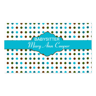 Babysitter  Day Care Double-Sided Standard Business Cards (Pack Of 100)