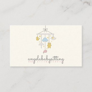 Babysitter, Daycare, Nursery, child, teacher, kids Business Card