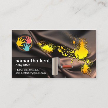 Babysitter Dirty Paint Ruin Silk Business Card
