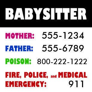 emergency numbers refrigerator magnets zazzle