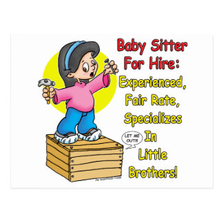 Babysitter for Hire! Postcard