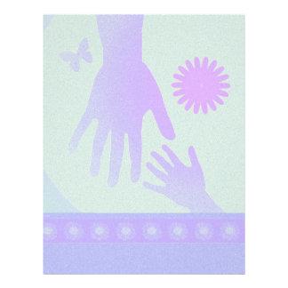 Babysitter Hands Violet Green Letterhead