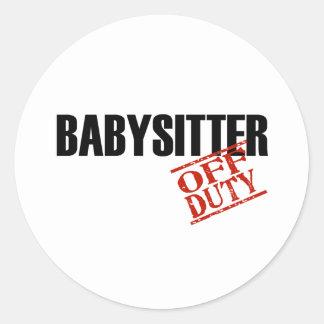 Babysitter Light Classic Round Sticker