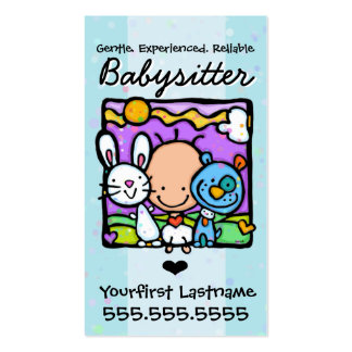 Babysitter.Nanny.Child Care.Custom text/color Business Card Template
