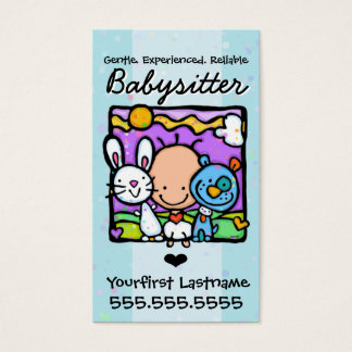 Babysitter.Nanny.Child Care.Custom text/color Business Card