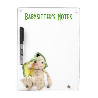 Babysitter Notes Dry Erase Board