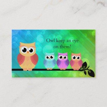 Babysitter Owl Business Cards