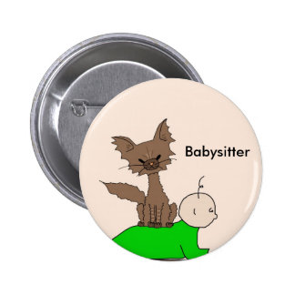 Babysitter - Pepper the Cat (Meet the Mews) Button