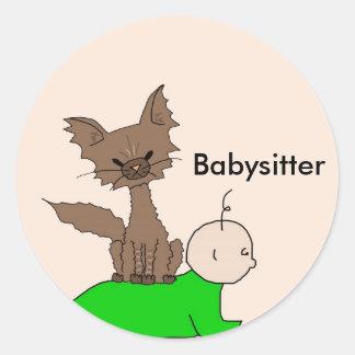 Babysitter - Pepper the Cat (Meet the Mews) Classic Round Sticker