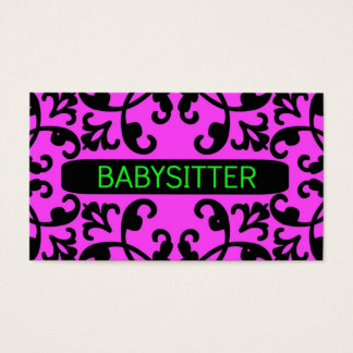 Teen Babysitting Business Cards Templates Zazzle