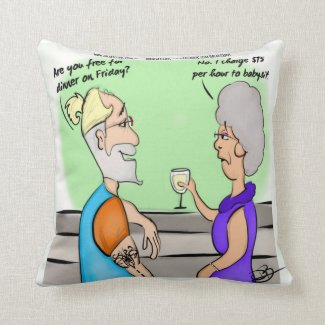Babysitter Products Throw Pillow