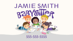 Babysitter business cards zazzle babysitter professional business card colourmoves