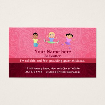 Babysitter slogans business card