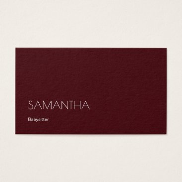 Babysitter Stunning Red Galore Business Card