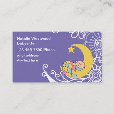 Babysitter Theme Business Cards Design