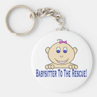 Babysitter To The Rescue Basic Round Button Keychain