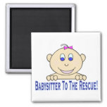 Babysitter To The Rescue Refrigerator Magnet