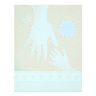 Babysitter Turquoise Tan Hands Letterhead