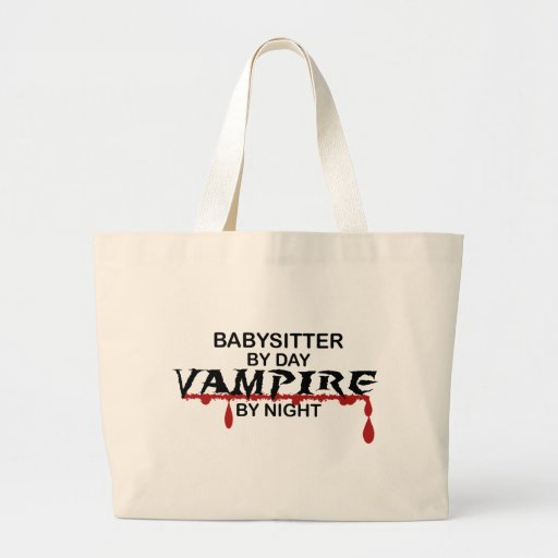 Babysitter Vampire by Night Canvas Bags