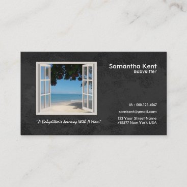 Babysitter Your Photo Window Frame Business Card