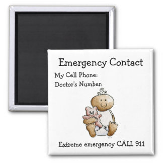 Babysitter's Emergency Contact Magnet