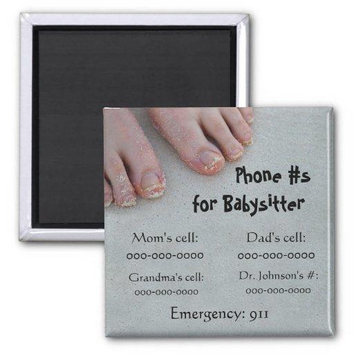 Babysitter's phone # Magnet