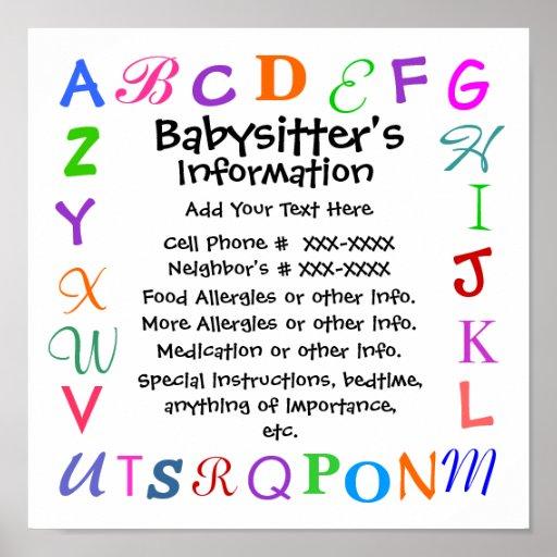 Babysitter S Poster By Srf Zazzle