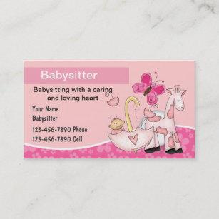 Babysitting business cards templates zazzle babysitting business cards accmission Image collections