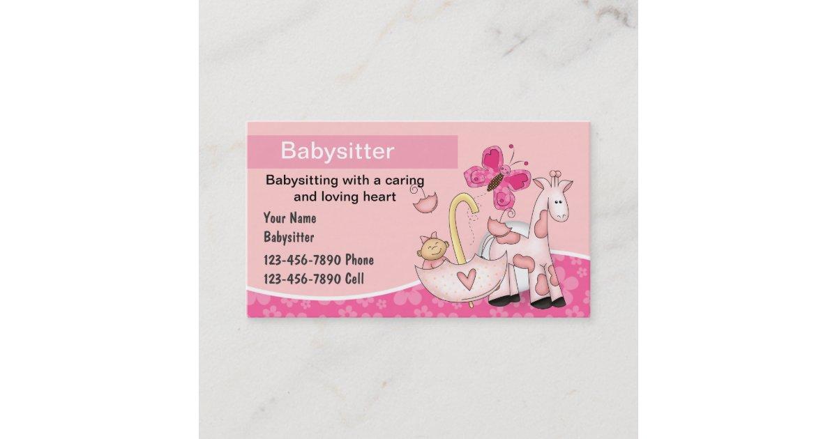 Babysitting Business Cards | Zazzle.com
