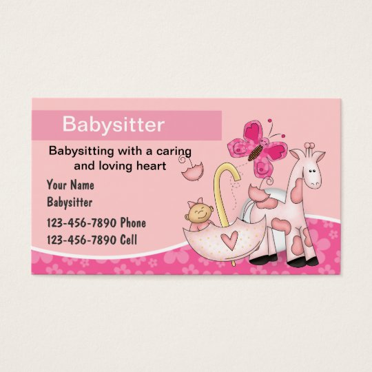 babysitting business cards zazzle