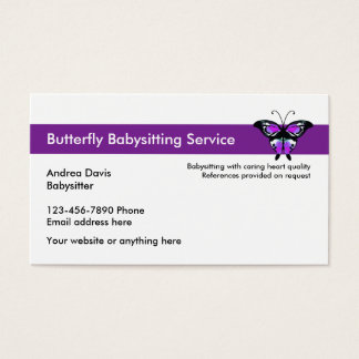 Babysitting Service Business Cards Templates Zazzle