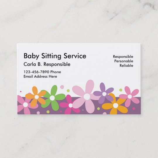 Babysitting business cards zazzle babysitting business cards reheart Gallery