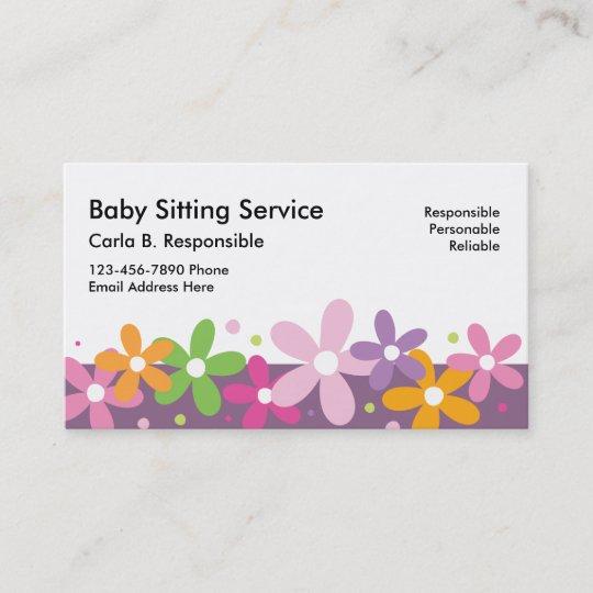 babysitting business cards - Babysitting Business Cards