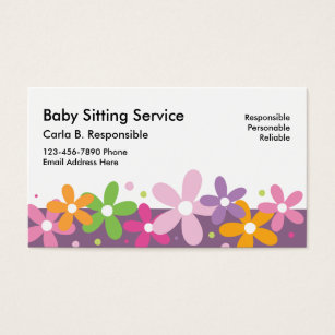 babysitting business cards templates zazzle