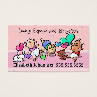 Babysitting.Child Care.Day Care. Custom text/color Business Card